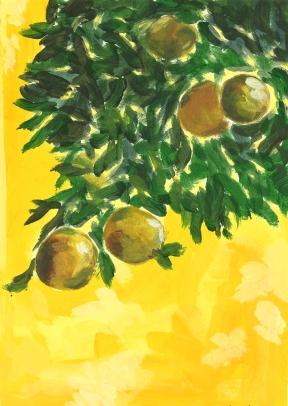 Yellow Citroen